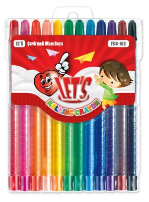 LET'S Пастели 12 цвята FDC-012